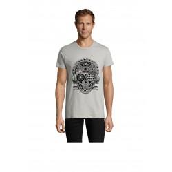 T-Shirt Men Skull Pure Grey