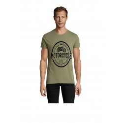 T-Shirt chiné Men Patch Kaki