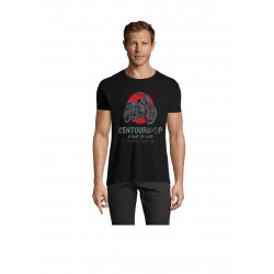 T-Shirt Men Flat Track Black
