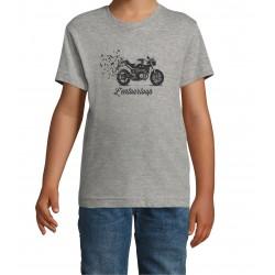T-Shirt Kid Birdy Grey
