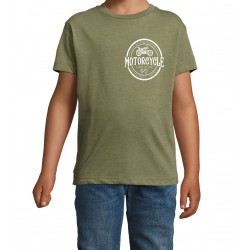T-Shirt Kid Patch Kaki