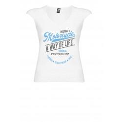 T-Shirt V Lady Original White