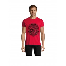 T-Shirt Men Skull Red