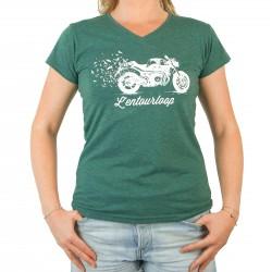 T-Shirt Chiné Lady Birdy Green