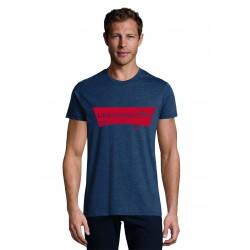 T-shirt Men Usual chiné denim