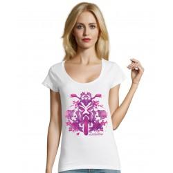 T-shirt v Lady INK blanc