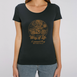 T-Shirt Lady Travel noir